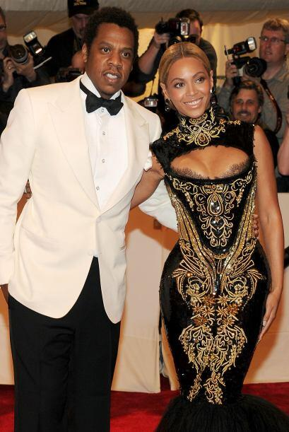 La cantante y su esposo, el rapero y empresario Jay-Z, levantaron expect...