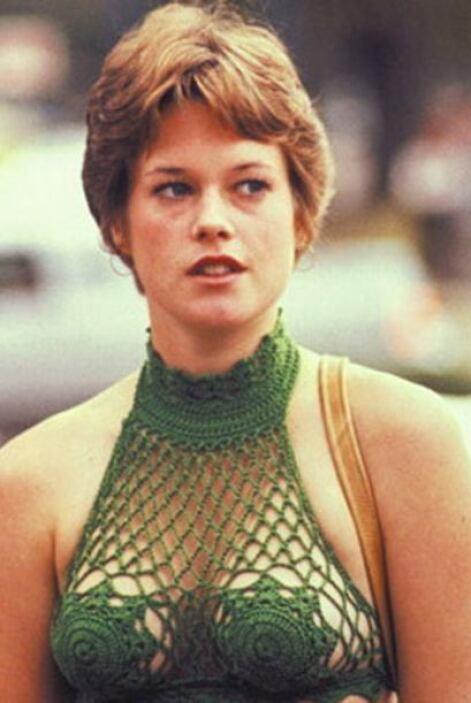 Se trata nada más y nada menos de Melanie Griffith cuando comenzaba en e...