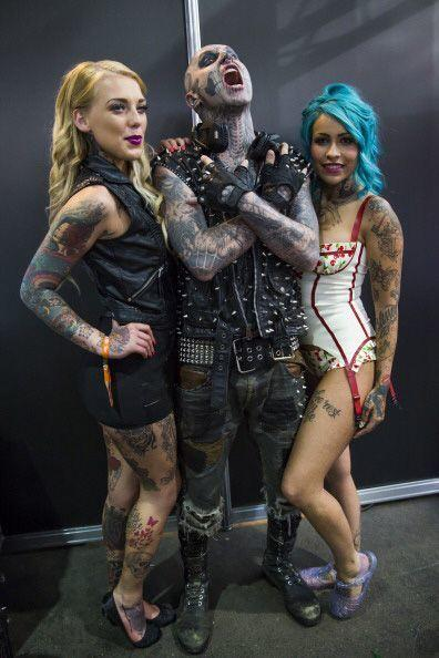 Zombie Boy no se pudo perder el Great British Tattoo Show, en Londres.