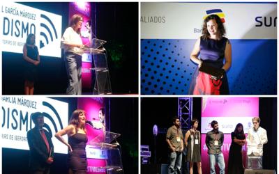 De izquierda a derecha y de arriba a abajo, los ganadores: Juanita Le&oa...