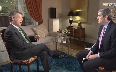 Entrevista completa al presidente Juan Manuel Santos sobre el proceso de...