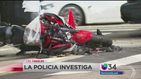 Casco le salva la vida de una muerte segura a un motociclista