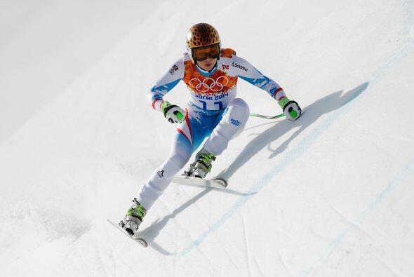 No sólo por su rostro y belleza, también por su talento con el esquí ya...