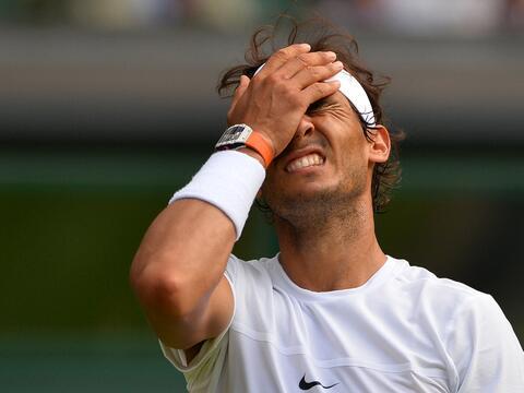 El tenista español Rafael Nadal, décimo cabeza de serie, f...