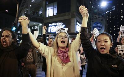 Una protesta en Seattle, en noviembre de 2016.