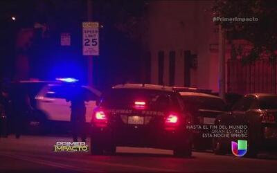 Persecución de bandidos que le dispararon a policías de Los Ángeles