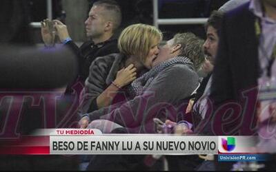 Fanny Lú por poco se devora a su novio a besos