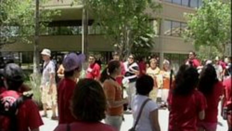 Estudiantes protestando en Tucson
