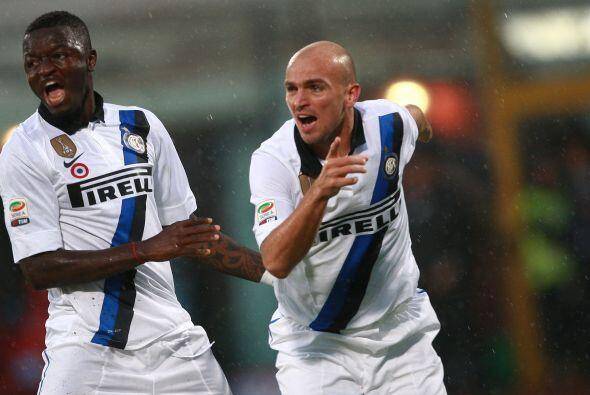 Inter festejaba y respiraba, luego de tantas derrotas.