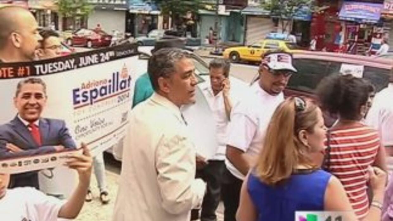 Adriano Espaillat se tomó las calles de Harlem