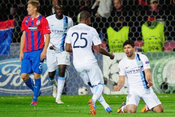 El 'Kun' consiguió su gol y el 3-0 ya marcaba la diferencia entre...