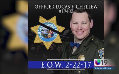 Colegas y seres queridos recuerdan al oficial Lucas Chellew
