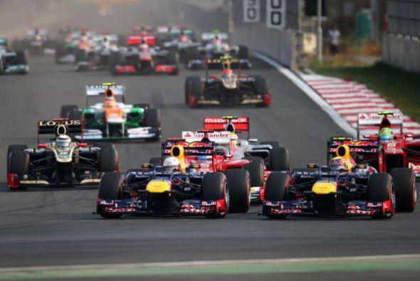 El alemán Sebastian Vettel (Red Bull) ganó el Gran Premio...