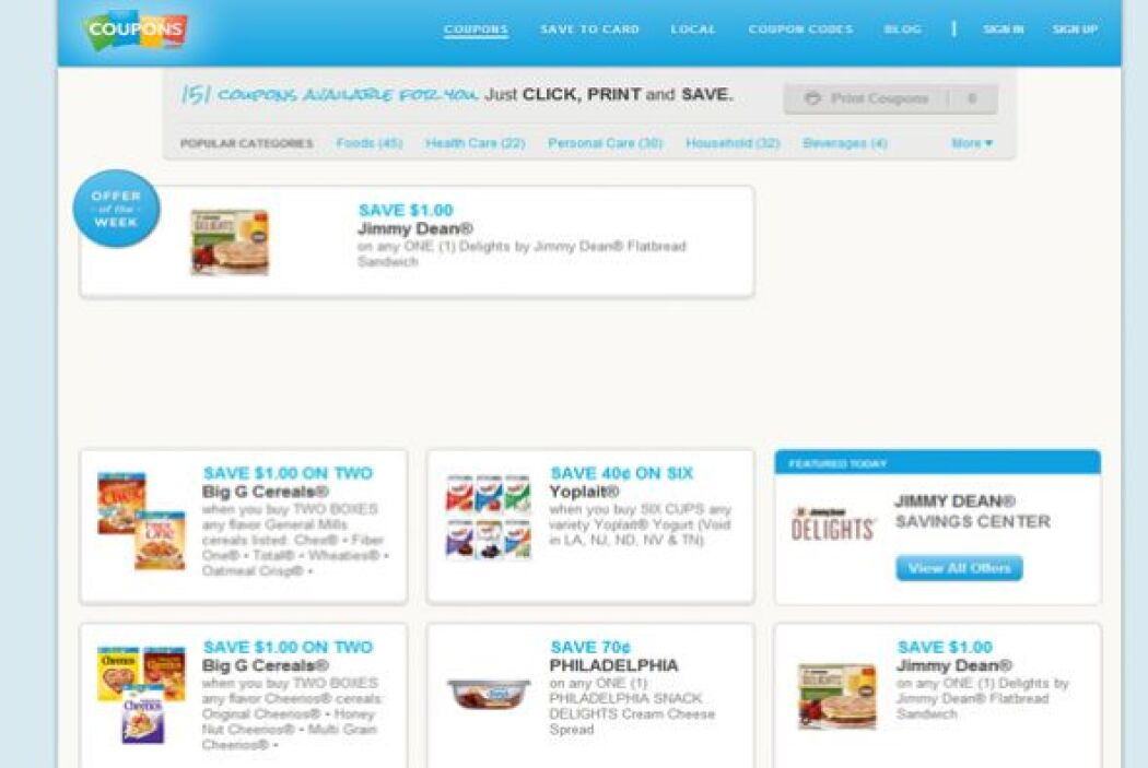 "Coupons.com  Además de su impresionante programa ""Coupons for Change"", e..."