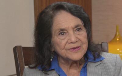 """Dolores Huerta: """"Si estamos en este país por una mejor vida y no partici..."""
