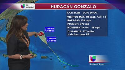 Gonzalo llega a convertirse en un huracán categoría 3