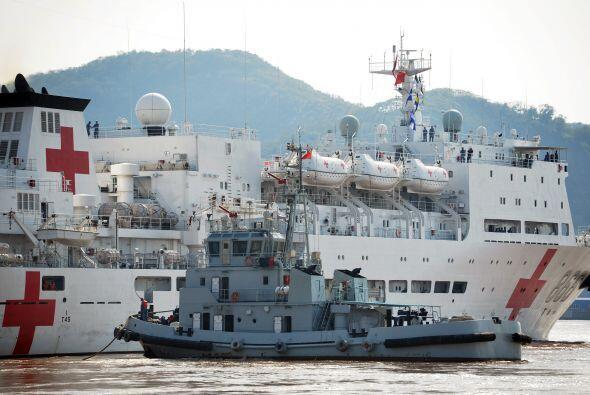 """Este jueves, el """"Arca de la Paz"""", barco hospital de la Armada china, par..."""