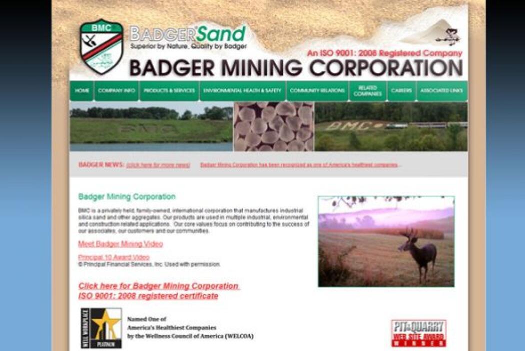6. Badger Mining Corporation   Industria: Exploración de minas y cantera...