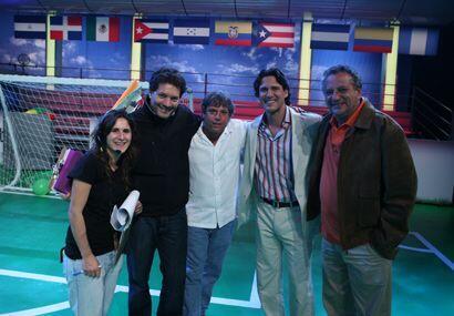 Jorge Aravena se tomó la primera foto con parte de la producci&oa...