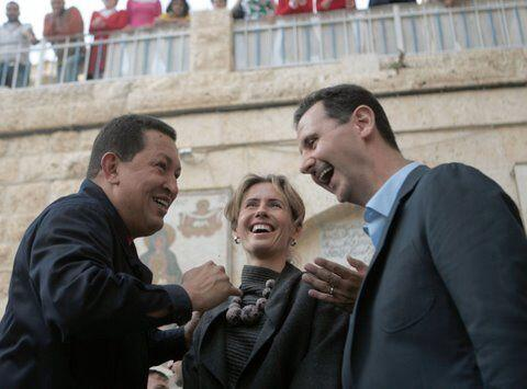 En octubre de 2012 Chávez reiteró la postura de apoyo al presidente siri...