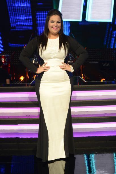 Yazaira López con su look para la sexta gala.