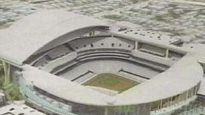 Un dibujo de lo que sería el nuevo estadio.