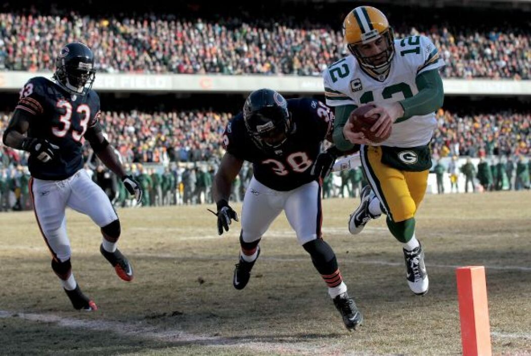 Los Packers abrieron el marcador en la primera serie del partido, el QB...