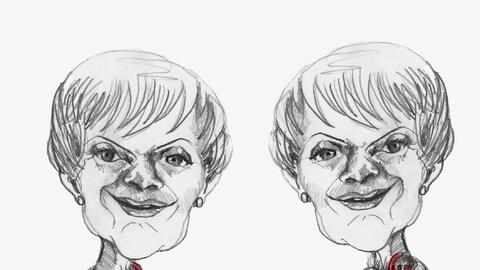 """""""Las dos Sofías"""", título y obra de la artista pl..."""