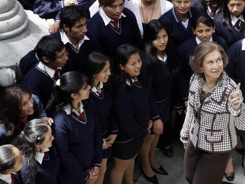 La Reina Sofía de España inició el jueves una visit...