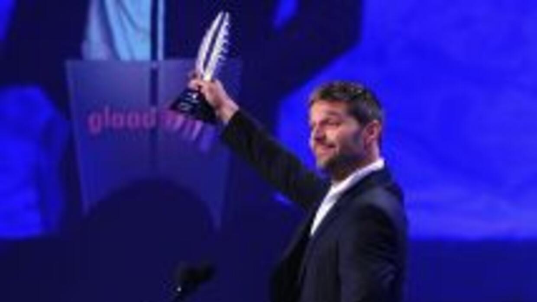 Ricky Martin en la entrega de los premios GLAAD del 2011.