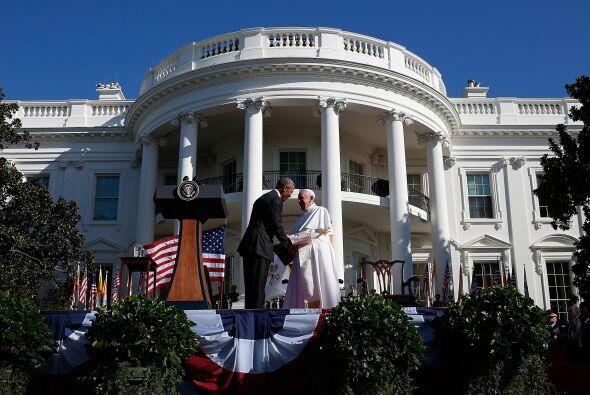 Juntos durante la ceremonia.