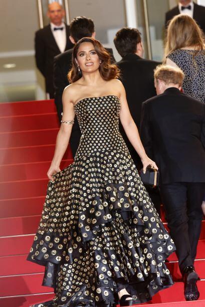 Salma decidió vestir una vez más un diseño de Alexander McQueen.
