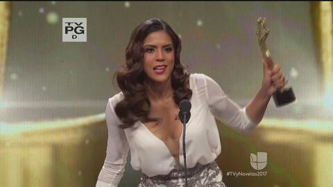 Francisca Lachapel fue la ganadora del premio Tv y Novela  a la mejor co...