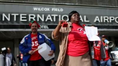 La movilización del viernes de trabajadores y líderes sindicales en el A...
