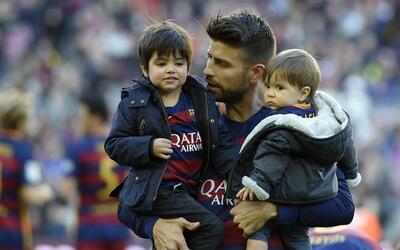 Gerard Piqué y su hijo