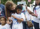 Un grupo de niños ciudadanos hijos de indocumentados deportados durante...