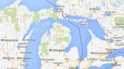 La zona afectada por el temporal es la de Michigan.