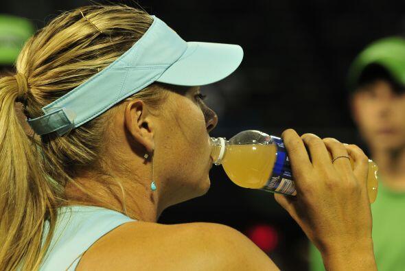 La que pareció robarse las miradas fue la rusa Maria Sharapova qu...