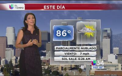 Los Ángeles tendrá un miércoles caluroso