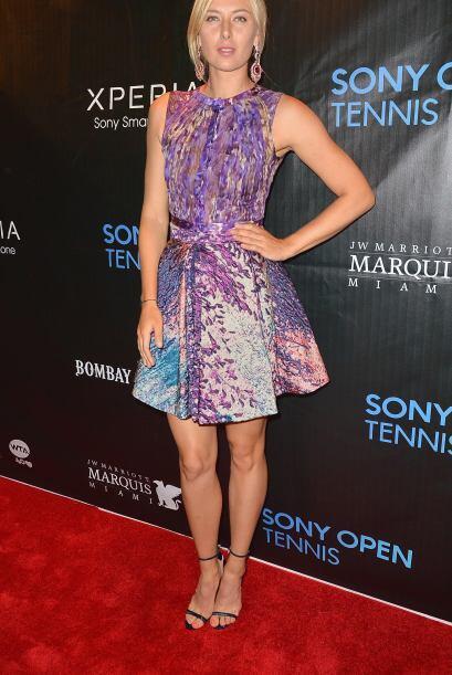 Maria Sharapova vino en este colorido vestido.