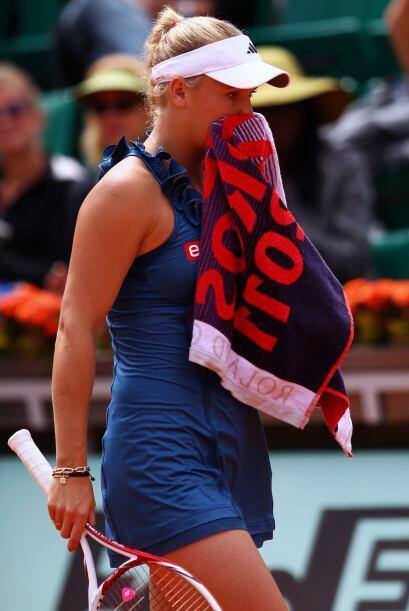 Wozniacki no lo podía creer, pero resignada se retiró de l...