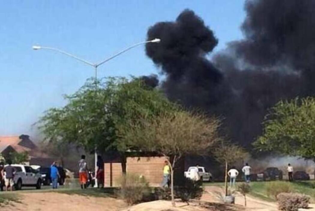 Afortunadamente no se registraron heridos y el piloto del jet militar lo...