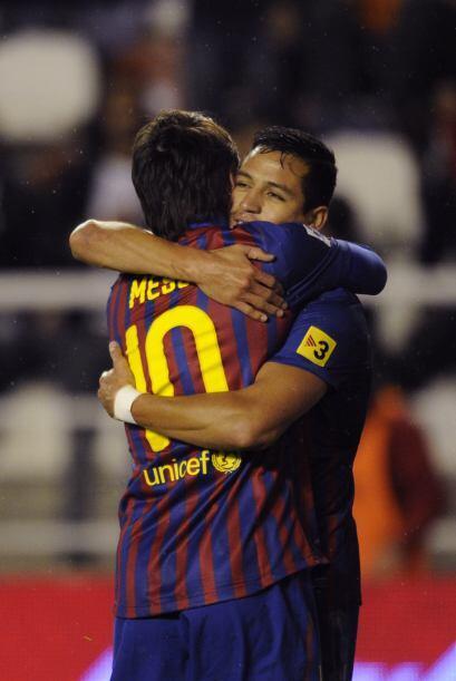 Alexis Sánchez se escapó para causar el segundo gol, aunqu...