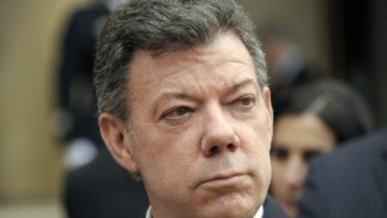 La gestión del presidente colombiano Juan Manuel Santos obtuvo durante m...
