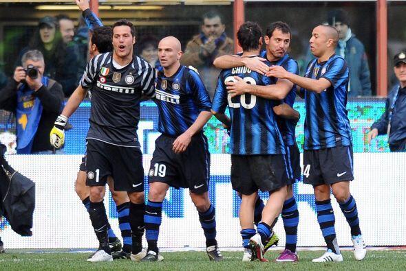 Esto fue suficiente y el triunfo de 1-0 para el Inter los puso a sólo do...