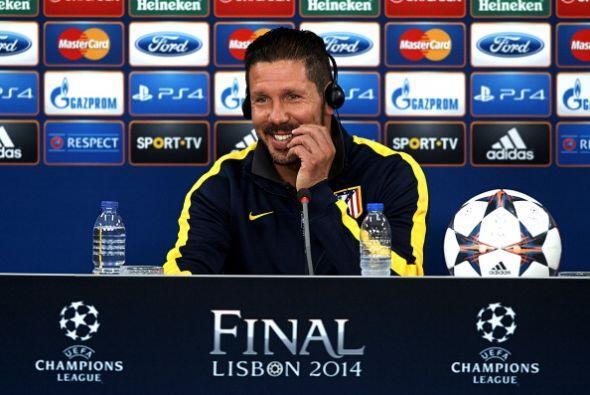 Los equipos dieron sus conferencias de prensa y Simeone fue todo sonrisas.