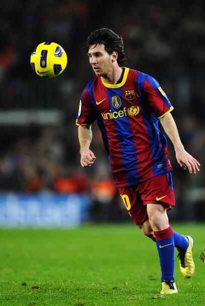 Delantero por derecha: Lionel Messi (Argentina/Barcelona).