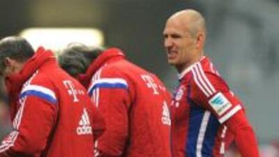 Arjen Robben salió tocado el fin de semana.