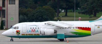 El avión siniestrado modelo BAE 146 Avro RJ85 LaMia, con n&uacute...