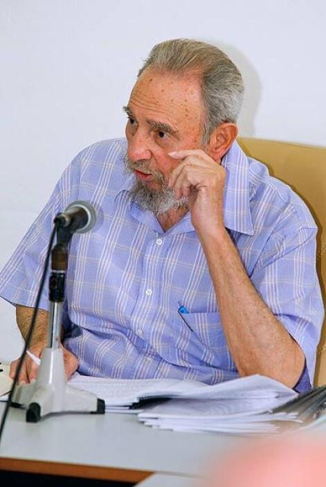 Fidel acudió a esta reunión acompañado de su familia, cosa rara en un ho...